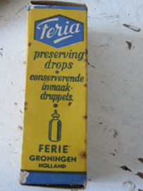 Oude volle verpakking FERIA Inmaakdruppels - 1940-1950. Met recepten!