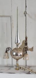 Oude/antieke Piek met 2 klokjes en Leonisch draad