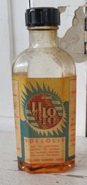 Oud flesje LILO edelolie - meubelolie. met bakelieten dop