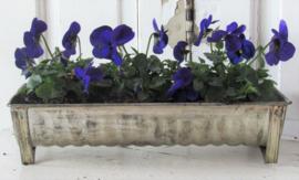 Leuk met bloemen/bolletjes! Oude rechthoekige, geribbelde bakvorm