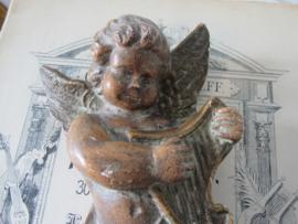 Oude Gipsen ENGEL.  met Harp