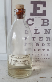 Oude/Antieke fles KAMFERSPIRITUS. Drogisterij P.J. Croese jr. , Arnhem