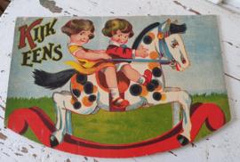 Oud/nostalgisch kinderboek: KIJK EENS. Met prachtige illustraties en teksten (oude spelling)