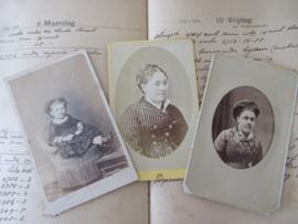 set van 3 CDV's - Cartes de Visite - uit ca. 1900 - 5