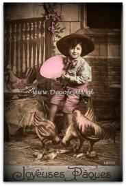 Paaskaart - Easter postcard 62