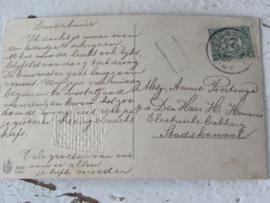 Oude, sleetse dubbele Chocoladevorm 'LAMMETJE' - Schaap + oude paaskaart