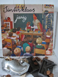 Sfeervolle Sintdecoratie: oude LP 'Sinterklaas is jarig