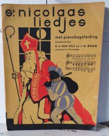 Oud Sinterklaasboek uit 1950: van Pelt/Boom. St. NICOLAAS LIEDJES