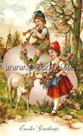 Paaskaart - Easter postcard 18