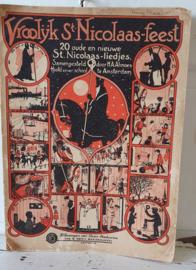Antiek Sinterklaasboek uit 1925: Vrolijk St. Nicolaas-feest. Almoes/Daan Hoeksema