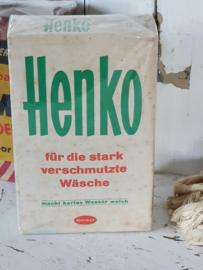 Oud pak HENCO voor de sterk vervuilde was!. ca. 1950-1960