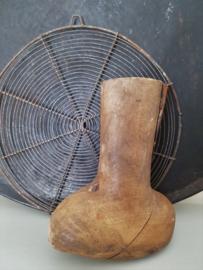 Oude houten schoen- /laarsmal