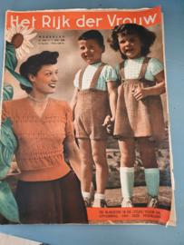 Tijdschrift HET RIJK DER VROUW uit 1949 met prachtige plaatjes, advertenties