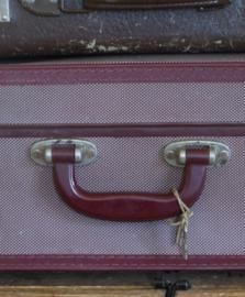 Oude kartonnen koffer.