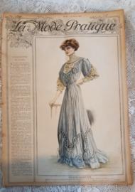 Prachtig Antiek tijdschrift LA MODE PRATIQUE: 31 Augustus1907