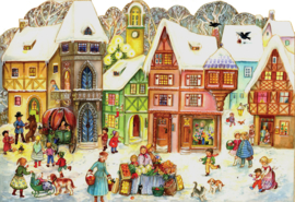 Prachtige GROTE Adventskalender: Het MARKTPLEIN in winterse Kerstsfeer