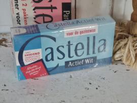 Oud pak CASTELLA Actief wit: 'Moeder leer uw kind sparen!'