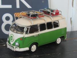 Stoere VW Bus! kleiner model met veel details. Met luifeltje. Metaal