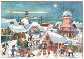Prachtige Nostalgische Adventskalender 'IN HET HOGE NOORDEN' - B