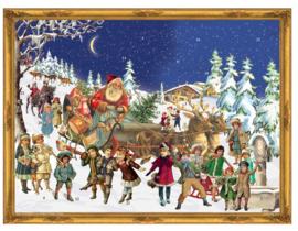 Prachtige GROTE Adventskalender: De Kerstman komt aan in de Rendierslee!