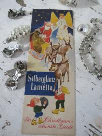 Oude verpakking SILBERGLANZ LAMETTA. Prachtige afbeelding!  Zilver