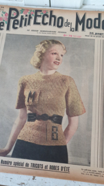 tijdschrift Le Petit ECHO de la MODE: 7 Juni 1936