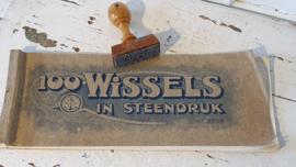Antiek mapje 100 WISSELS in steendruk uit ca. 1930 + oude Stempel