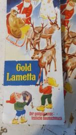 Oude/antieke verpakking Gold LAMETTA met prachtige afbeelding