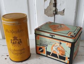 Oude blikken: DE RUYTER's gestampte muisjes & VAN MELLE's Toffees