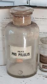 Grote antieke APOTHEKERSPOT. Pulvis PRO PILULIS