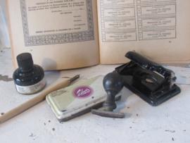 5-delige set oude/antieke Bureauspullen. o.a. TALENS