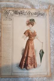 Prachtig Antiek tijdschrift LA MODE PRATIQUE: 24 augustus 1907