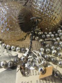 Set van 2 Nostalgische kerstornamenten Parelmoer Taupe-achtig