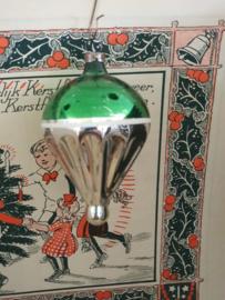 Oude/antieke kerstbal: Luchtballon (?) - Lampion