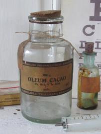 Antieke Apothekersfles OLEUM CACAO (cacaoboter)