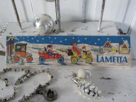 Antiek doosje LAUSCHA LAMETTA. Zilver. DDR. Prachtige afbeelding