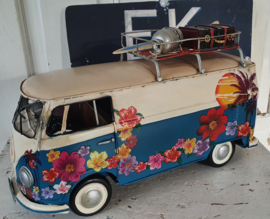 If you're going to San Francisco ... Hippie VW bus met bloemen en teksten