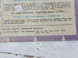 Zeldzaam! Oude verpakking Wasmiddel HET TEXTIELHUIS, Amsterdam