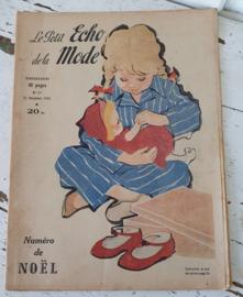 tijdschrift Le Petit ECHO de la MODE: 21 dec. 1952. KERSTNUMMER!