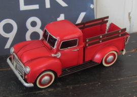 Stoere oude Chevvy Pick Up! 1950. Rood. Model, Metaal