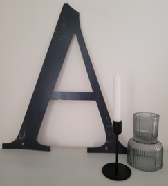 Grote stoere metalen letter A