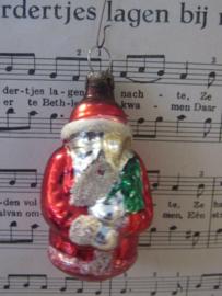 oude/Antieke kerstbal: Lief kerstmannetje! hangend