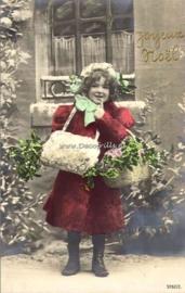 Poster A4 met sfeervolle, nostalgische kerstafbeelding