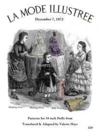 Nostalgische poster A4 - La mode Illustree Patterns for Dolls 1872