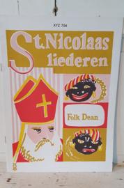 Oud/Nostalgisch boek ST. NICOLAASLIEDEREN. Folk Dean. Prachtige illustraties!