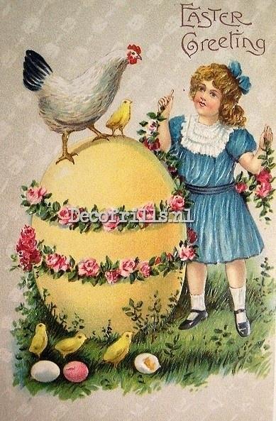 Paaskaart - Easter postcard 67