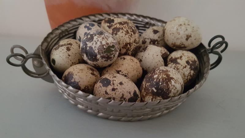 Oude chocolademal mandje - met klemmen