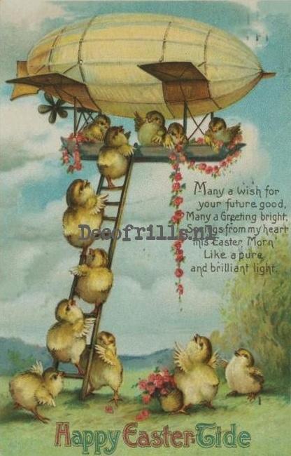 Paaskaart - Easter postcard 75