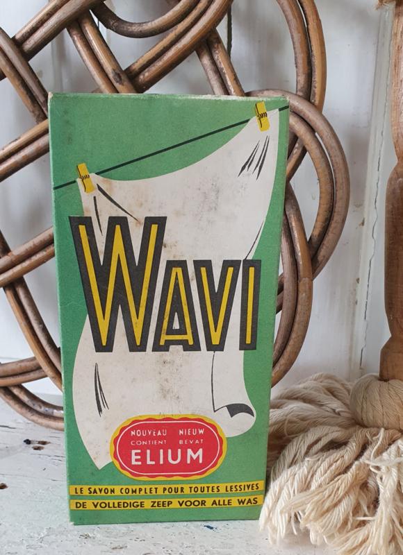 Oude volle verpakking WAVI zeeppoeder, met elium ... 1950-1960
