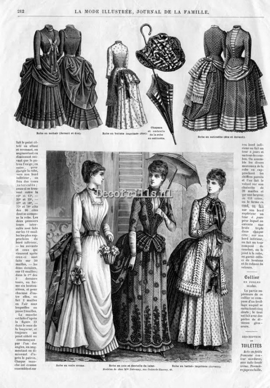 Nostalgische poster A4 - La mode Illustree 1885